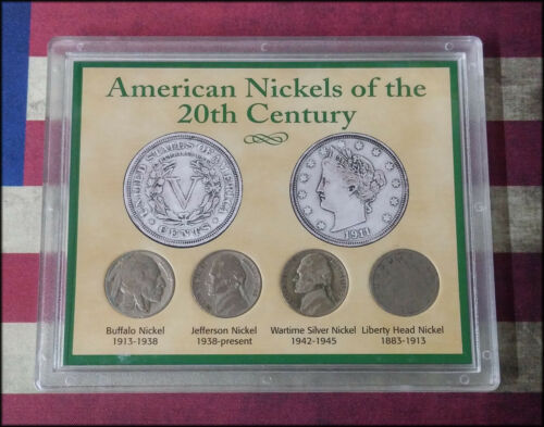 BINo 4 Coins American Nickels of the 20th Century Set