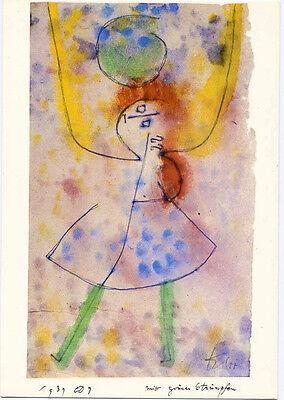 Paul Klee≈Girl with Green Stockings 1939≈Bauhaus Art POSTCARD 4x6