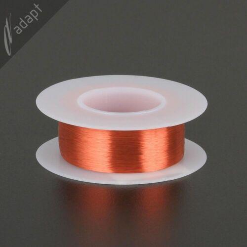 Enameled Copper Magnet Wire 155C gauge 6125 ft SPN ~1//8 lb 42 AWG Red