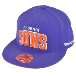 0102f6351cf NBA Mitchell Ness TQ40 Phoenix Suns Arch Flat Bill Fitted Hat Cap