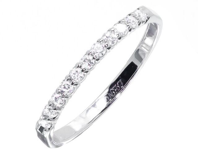10k Womens White Gold Diamond Wedding Engagement Anniversary Band Ring 1/5 ct