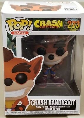 "Crash Bandicoot 3.75/"" Pop Vinyl Figure Pop Games Funko 273 UK seller"