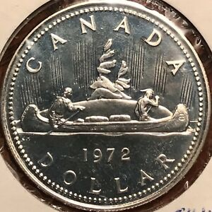 1972-Proof-Like-Canada-50-Silver-One-Dollar-1-Canadian-Coin-Voyageur