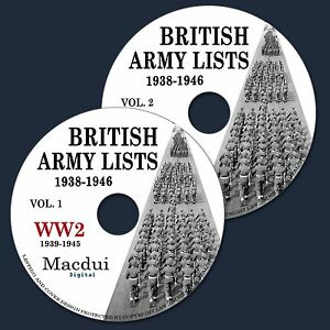 British-Army-Lists-1938-1946-incl-WW2-1939-1945-E-book-82-Parts-on-2-DVD-PDF