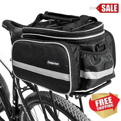 Bike Rack Top Bag Luggage Storage Bicycle Insulated Black Waterproof Rear Trunk