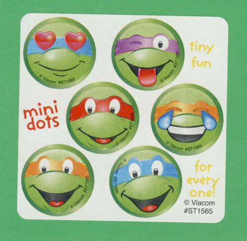 60 Teenage Mutant Ninja Turtles Mini Dot Stickers Donatello Leonardo