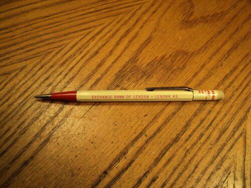Vintage Autopoint Mechanical Pencil Exchange Bank of Lenora Lenora, KS