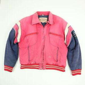 Vtg-90s-Louisville-Slugger-Jacket-Coat-Sun-Wash-Faded-Paint-Distressed-Grunge
