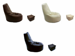 Beanbag-Arm-Chair-Adult-GAMING-Bean-Bag-Faux-Leather-Game-XL-Seat-with-Footstool