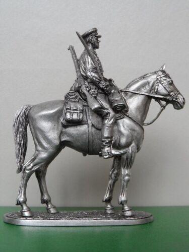 Mounted Tin Soldier WW 2 Soviet Army Cavalryman 1939-1943 1:32 54 mm
