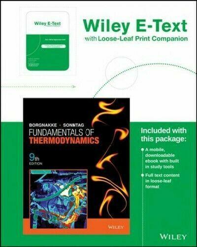 Fundamentals Of Thermodynamics Ninth Edition Binder Ready