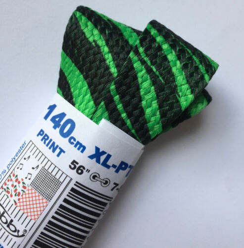 TOBBY PRINTED XL FLAT//FAT SHOE LACES SHOELACES 20-25mm Wide 140 CM LONG