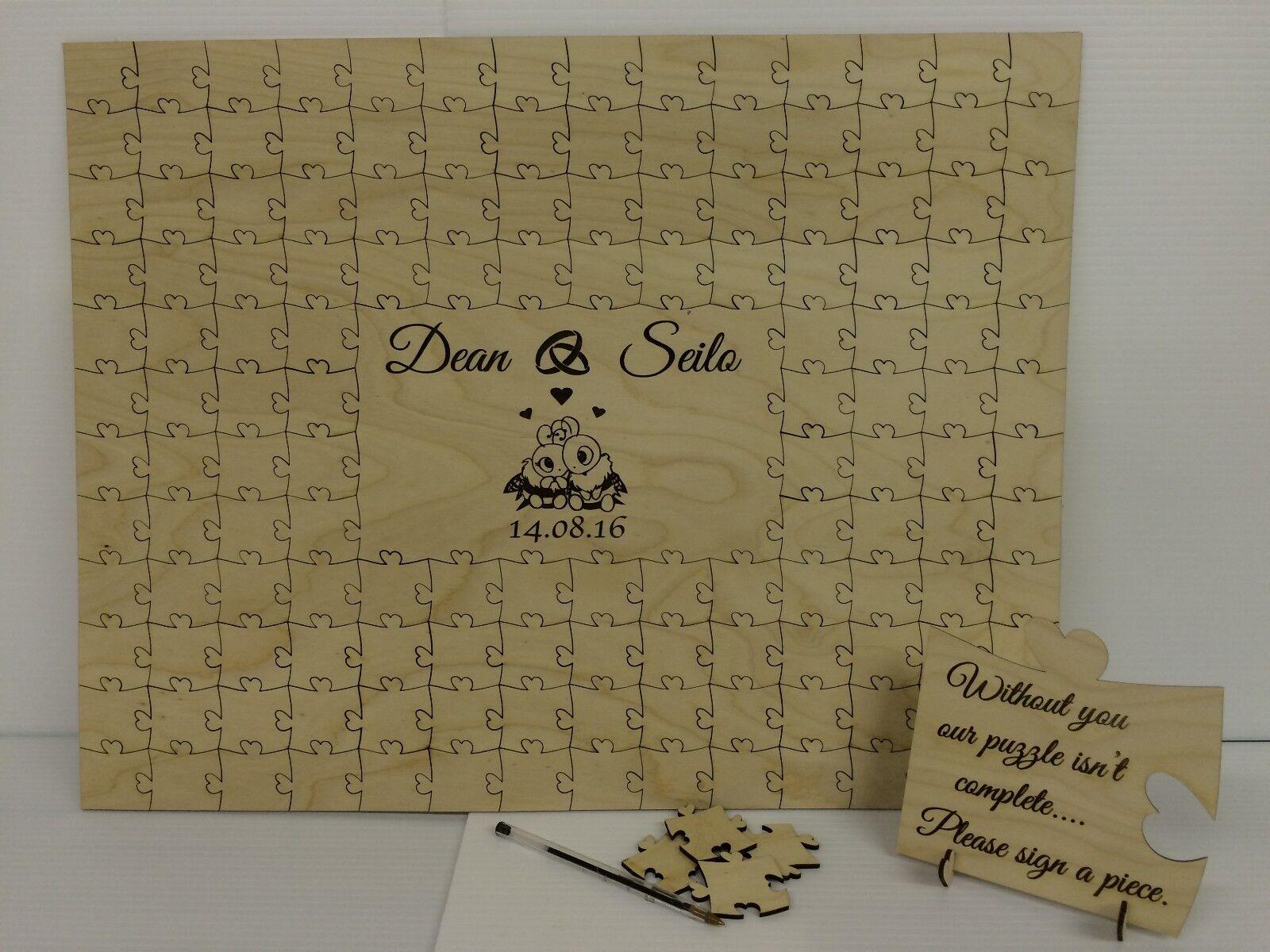 APE personalizzata in LEGNO MATRIMONIO Jigsaw  Puzzle Libro degli ospiti Ricordo Regalo  prezzi più convenienti