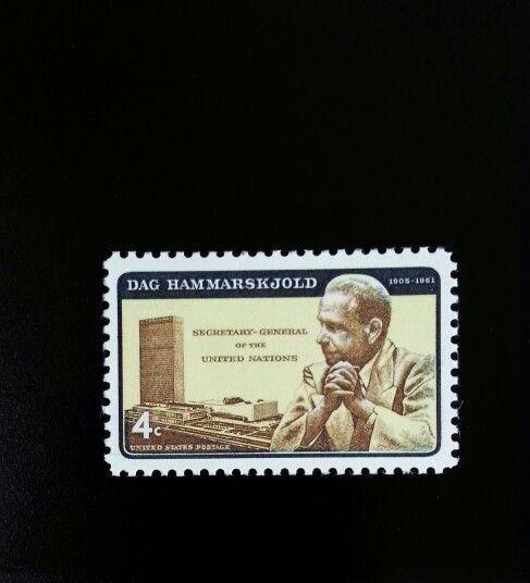 1962 4c Dag Hammarskjold Secretary General United Natio