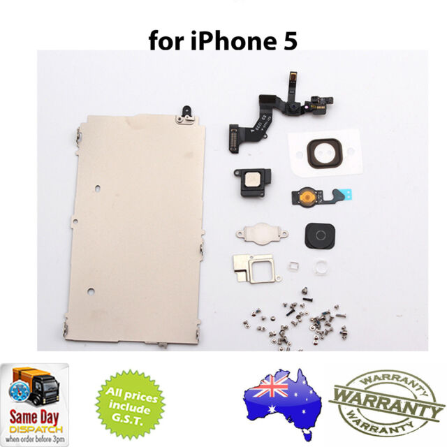 for iPhone 5 - FULL SET REPAIR PARTS FOR LCD & DIGITIZER ASSEMBLY - BLACK HOME