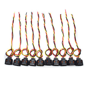 Details about Set 10 PCS 3 Wire Harness Pigtail Connectors Fit Cadillac on 3 wire lamp, 3 wire solenoid, 3 wire antenna, 3 wire power, 3 wire wheels, 3 wire regulator, 3 wire wiring, 3 wire coil, 3 wire black, 3 wire sensor, 3 wire control, 3 wire light, 3 wire adapter, 3 wire lead, 3 wire switch, 3 wire alternator, 3 wire fan, 3 wire cable, 3 wire motor, 3 wire module,