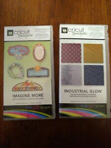 Cricut-Imagine-Lot-of-2-Cartridges-Imagine-More-Industrial-Glow