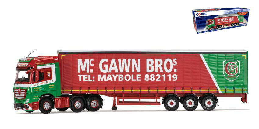 Mercedes Actros MP4 Curtainside Trailer Mc Gawn Bros Transport Truck Camion 1 50