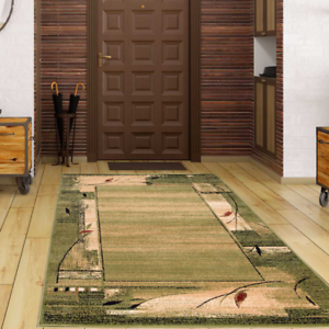 Teppich Stylisch Modern Super Optik Preiswert Robust Grün Beige 8 versch.Größen
