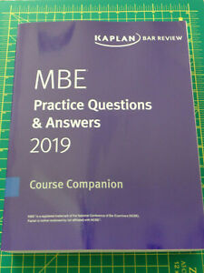 Details about 2019 -2020 Kaplan MBE Practice Questions & Answers Multistate  Bar Exam Free Ship