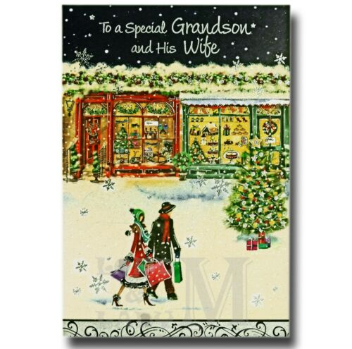Grandson Wife Girlfriend Christmas Card Family and Partner Various