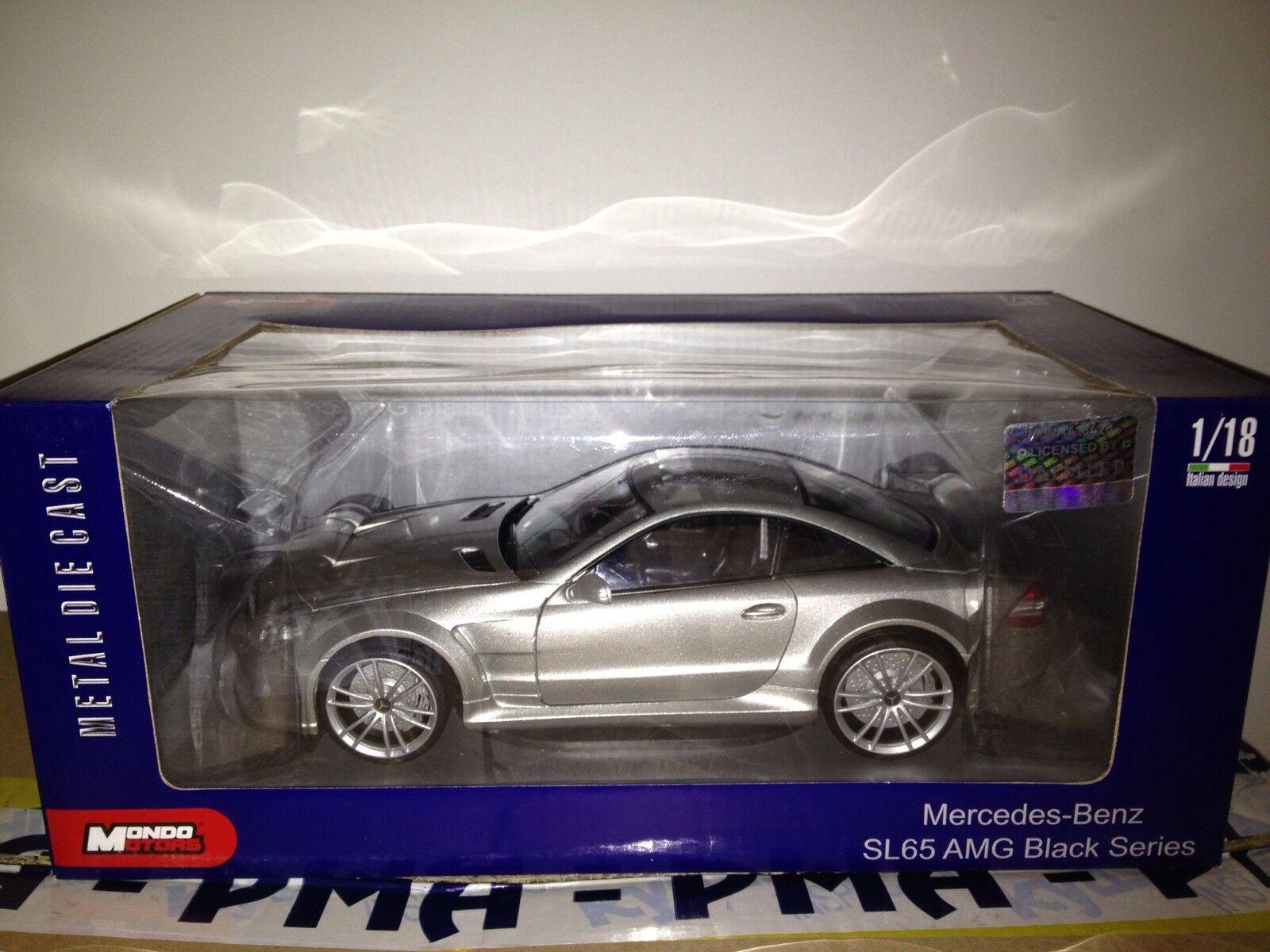 Mondo Motors Mercedes Sl65 Amg Matt grigio 1 18 Nuevo Stock