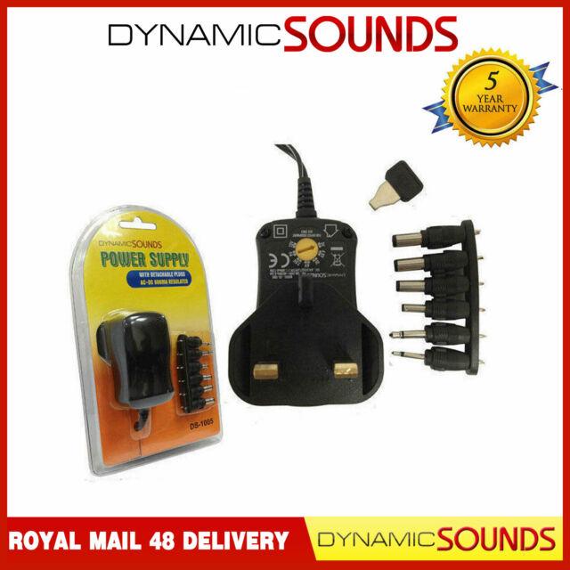 Universal Mains AC//DC Power Adaptor Supply Plug Charger 3V 4.5V 5V 6V 9V 12V 30W