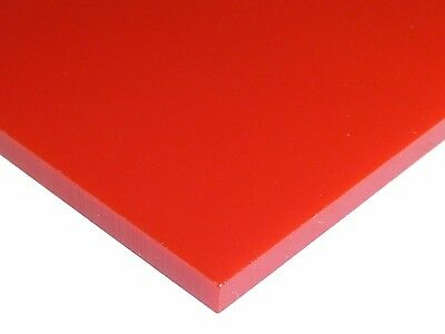 "1//8/"" Solid Red Acrylic Plexiglas Sheet 12/"" x 12/"" Cast Acrylic Chemcast New"