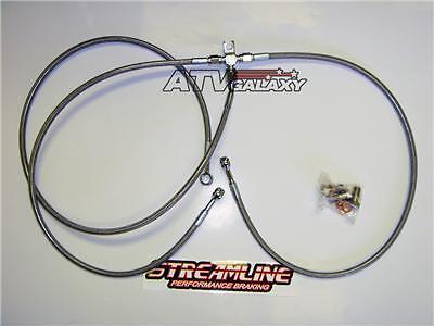 "Streamline Steel Rear Brake Line 2/"" RED Yamaha Warrior 350 87 88 89 90 91 92"