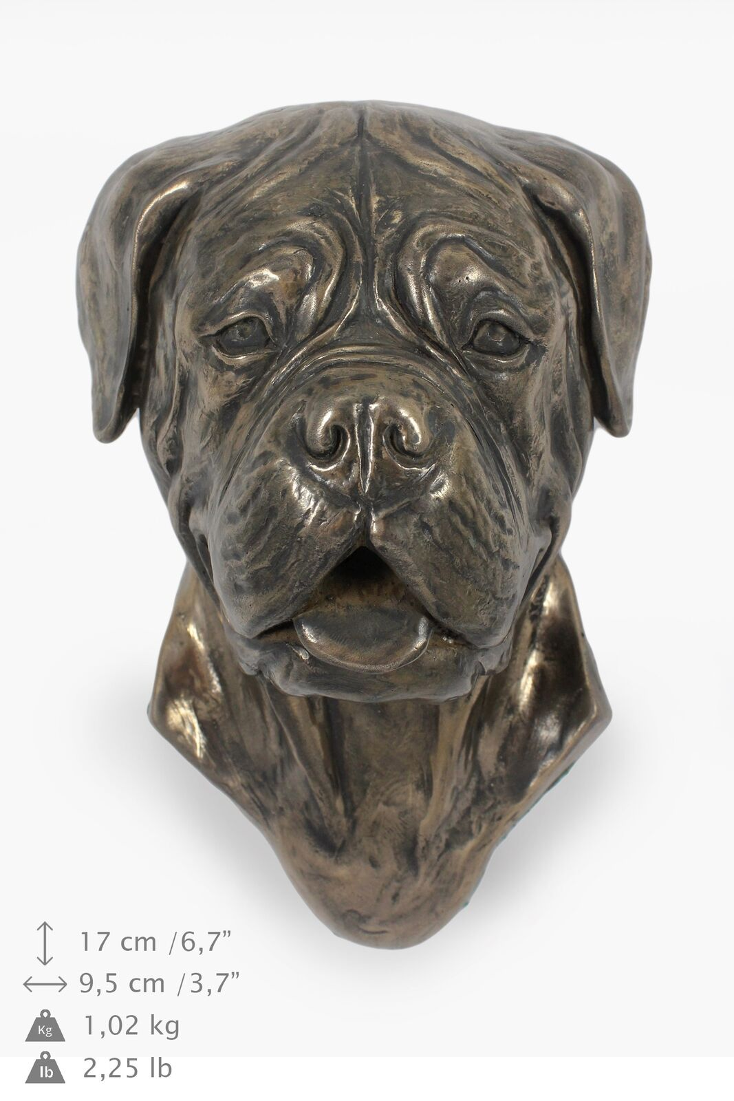 Dog de Bordeaux type 2 - dog figurine to hang on the wall, high quality, Art Dog