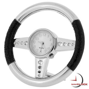 STEERING-WHEEL-MINIATURE-SPORTS-CAR-COLLECTIBLE-MINI-CLOCK