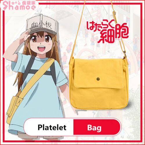 Cells At Work Platelet Cosplay Kesshōban Shoulder Bag Canvas Handbag Schoolbag