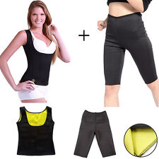CANOTTA + PANTALONE SNELLENTE DONNA HOT SHAPERS TRAINING DIMAGRANTE PALESTRA