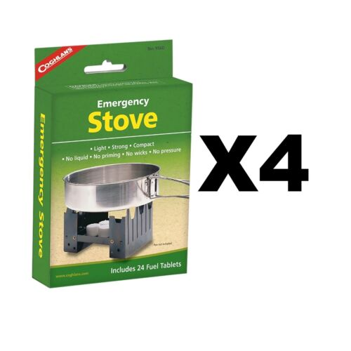 Coghlan/'s Emergency Stove w//24x Fuel Tablets Compact Burns Solid Fuel 4-Pack
