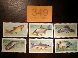 Germany-DDR-1987-Freshwater-Fish-stamps-MNH