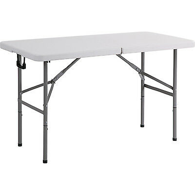 HARTLEYS 4FT FOLDING TRESTLE TABLE CAMPING/FESTIVAL/FETE/GARDEN/CATERING/OUTDOOR