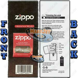 ZIPPO WICK Card Windproof Lighter Replacement 100MM Thread Cord Wire Taper Fuse