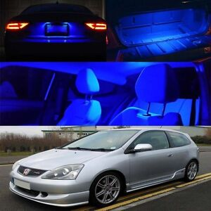 02 05 Civic Ep3 Type R Si Blue Xenon Interior Led Bulb Map Dome Trunk Plate Ebay