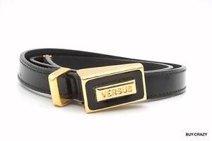 VERSUS-VERSACE-Waist-Mark-Belt-Patent-Leather-Black-2270k