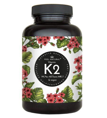 Vitamin K2 MK7-365 Kapseln mcg je Kapsel Hochdosiert mit 200µg />99/% All-Tran