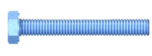 Sechskantkopf DIN 933 8.8 Vollgewinde Stahl verzinkt REISSER Gewindeschrauben m