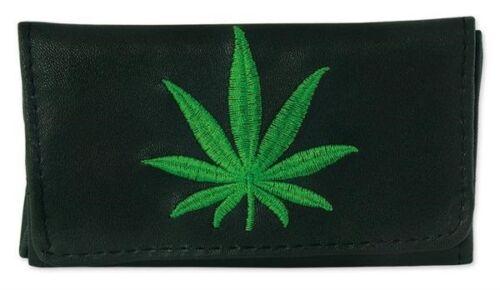 Tabakbeutel Tabaktasche Drehertasche mit Motiv Design Hanf Cannabis Blatt