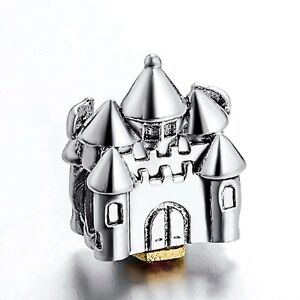 Hot-Sale-Vintage-Castle-925-Silver-European-Bead-Charm-Fit-DIY-Sterling-Bracelet