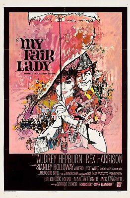 Audrey Hepburn My fair Lady 1964 Stretch Movie Poster Canvas Art Print 60s Film