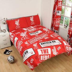 Liverpool-Fc-039-Empiecement-039-Set-Housse-de-Couette-Double-Neuf-Football