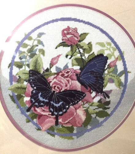 "Dimensions Needlepoint Kit ""Spicebush Swallowtail"" Butterflies NEW Paul J Sweany"