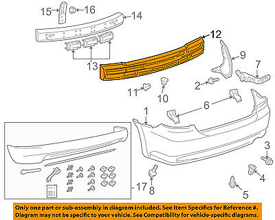 Front Bumper Impact Absorber For Scion tC 05-10 Foam
