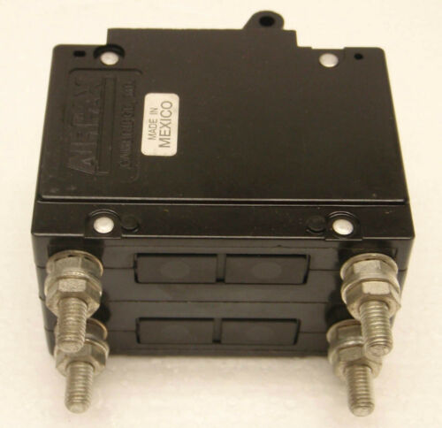 2-Pole 7.5A  Airpax UPL11-1-65-752 250V 50//60Hz Trip Amps 9.38 Circuit Breaker