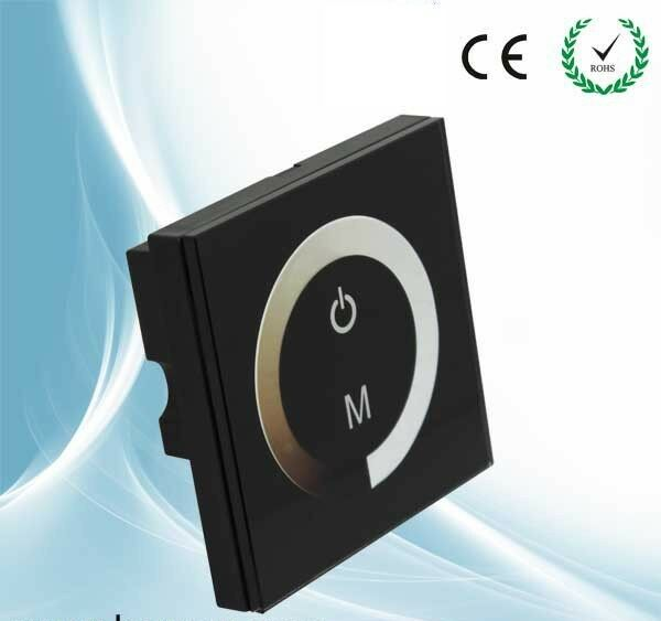 LED Dimmer 12V Touch Panel Dimmer Switch DC For LED Lights with 86 Junction Box
