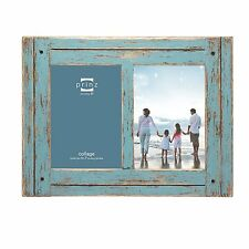 prinz 2 opening homestead antique wood collage frame 5 x 7 blue